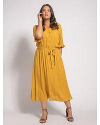 Only Carmakoma Kleid (große Größe) - Gelb