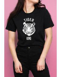 Dresses Joe Exotic Tiger King Slogan Oversized T-shirt - Black