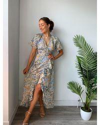 dressesie Chloe Floral Print Midi Dress - Multicolour