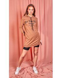 dressesie Rust Die For Dior Hooded Jumper Dress - Multicolour