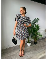 dressesie Kelly Floral Print Dress - Multicolour
