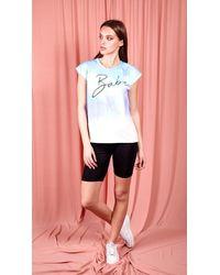 Dresses Frankie Tie Dye Babe Slogan Oversize T Shirt- Lilac - Multicolor