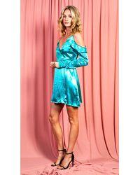 dressesie Teal Green Short Dress - Blue