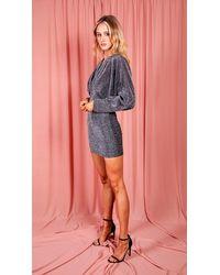 dressesie Grey Sparkly Bat Sleeve Dress
