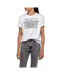 Replay W3232b Short Sleeve T-shirt - White
