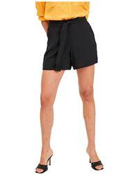 Vila Rasha High Waist Shorts - Black