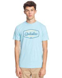 Quiksilver Cut To Now Short Sleeve T-shirt - Blue