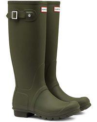 HUNTER Original Tall Ladies Wellington Boots - Green