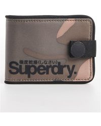 Superdry Tarp One Popper Wallet - Green