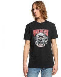 Quiksilver Biker Skull Short Sleeve T-shirt - Black