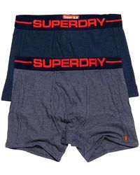 Superdry Sport Boxer Double Pack - Blue