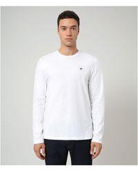 Napapijri Salis Long Sleeve T-shirt - White