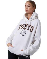 Superdry City College Oversized Hoodie - White