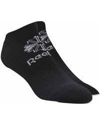 Reebok Foundation No Show 3 Pack - Black