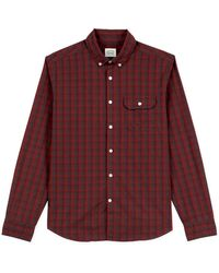Oxbow N2 Chamma Checks Long Sleeve Shirt - Red