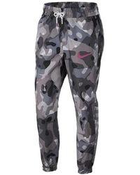 Nike Sportswear Swoosh Camo Pants - Gray