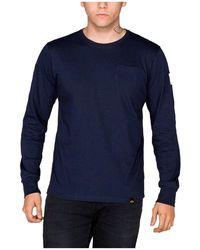 Alpha Industries Nasa Long Sleeve T-shirt - Blue
