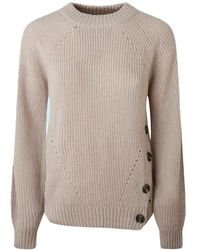 Pepe Jeans Orchid Long Sleeve Sweater - Natural