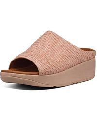 Fitflop Imogen Basket Weave Toe-thong - Green