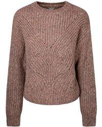 Pepe Jeans Cora Long Sleeve Sweater - Brown