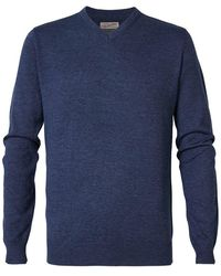 Petrol Industries V-neck Sweater - Blue