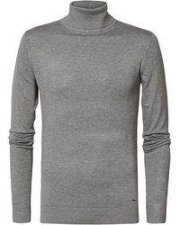 Petrol Industries Roll Neck Sweater - Gray
