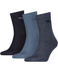 PUMA Short Crew Socks 3 Pairs - Blue
