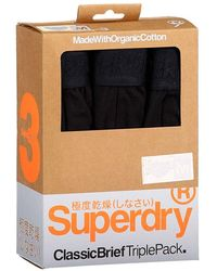 Superdry Classic Boxer 3 Pack - Black
