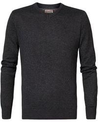 Petrol Industries V Neck Sweater - Black