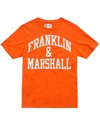 Franklin & Marshall Jersey Round Neck - Orange