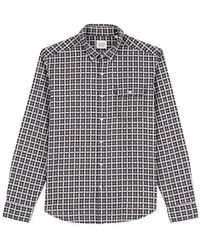 Oxbow N2 Chamma Checks Long Sleeve Shirt - Blue