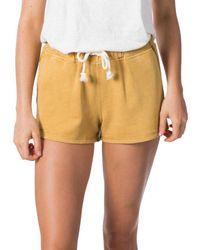 Rip Curl Organic Short Pants - Yellow