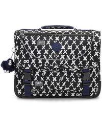 Kipling Medium Schoolbag Including Fluro Rain Cover - Black