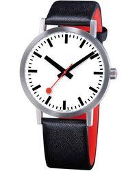 Mondaine Classic Pure Watch - Black