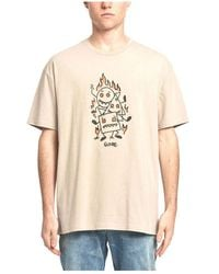 Globe Appleyard Stacker Short Sleeve T-shirt - Natural