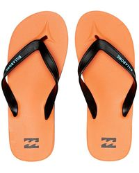Billabong All Day Arch Support Flip Flops/thongs - Orange
