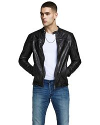 Jack & Jones Liam Leather - Black