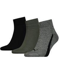 PUMA Lifestyle Quarters Socks 3 Pairs - Green
