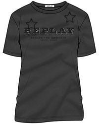 Replay W3308a Short Sleeve T-shirt - Black