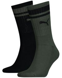PUMA Heritage Stripe Crew Socks 2 Pairs - Green