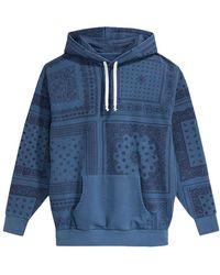 Levi's Bandana Pop Over Full Zip Sweatshirt - Blue