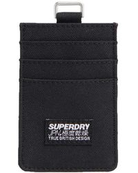 Superdry Fabric Card Wallet - Black