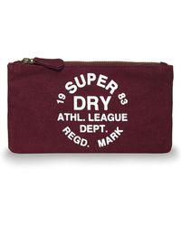 Superdry Athl League Pencil Case - Purple