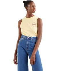 Levi's Graphic Band Sleeveless T-shirt - Yellow