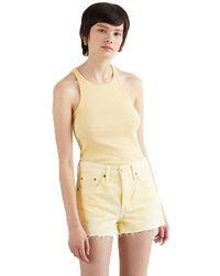 Levi's High Neck Sleeveless T-shirt - Yellow