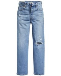 Levi's Ribcage Straight Ankle - Blue