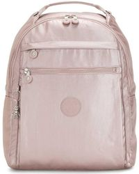 Kipling Large Backpack With Laptop Compartment - Pink