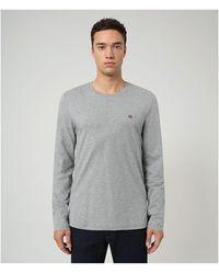 Napapijri Salis Long Sleeve T-shirt - Gray