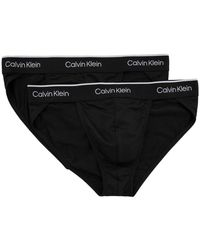 Calvin Klein Pack Of Two Pro Air Classic-fit Microfibre Briefs - Black