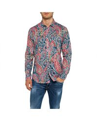Replay Shirt With Paisley Print - Blue